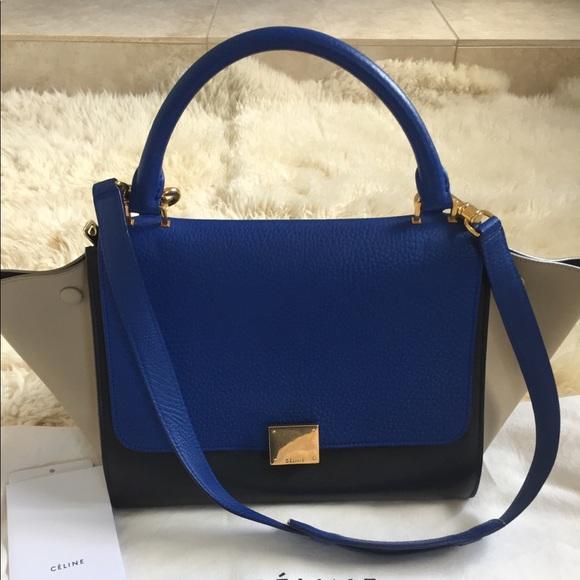 cc65927ac5 Celine Handbags - Celine Trapeze tricolor all leather Small